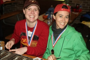 Liz and Michelle UWP 5k 2012
